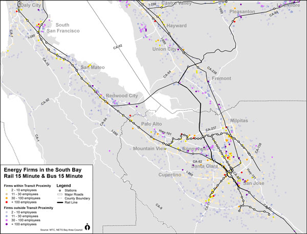 South Bay Energy Firms Proximity to Transit