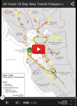 Animation of Bay Area Transit Frequencies